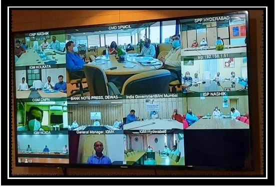 SPMCIL 20th Apex Bipartite Forum Meeting held on 25th and 26th September 2020 through Video Conferencing mode.